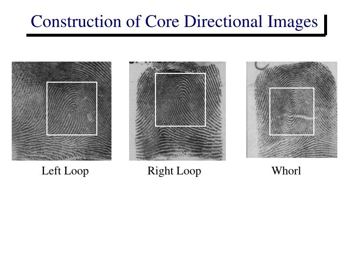 Construction of Core Directional Images
