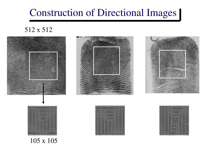 Construction of Directional Images