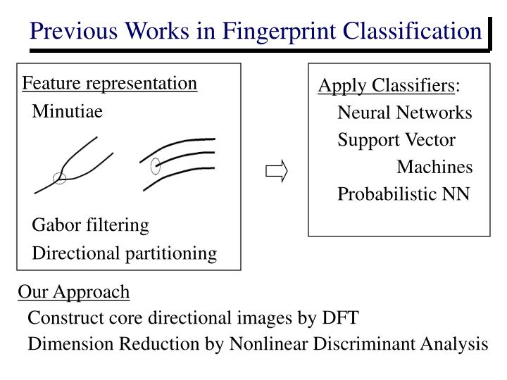 Previous Works in Fingerprint Classification