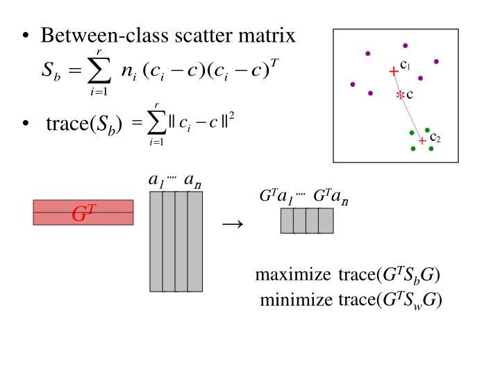 Between-class scatter matrix
