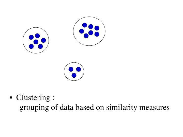 Clustering :