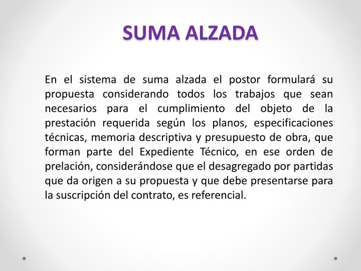 SUMA ALZADA