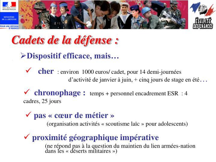 Cadets de la défense :