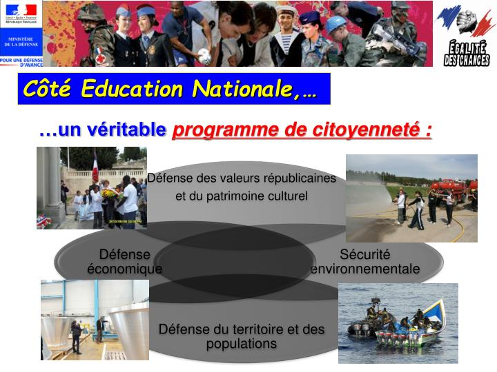 Côté Education Nationale,…