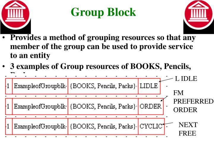 Group Block