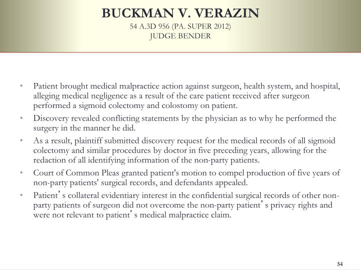 BUCKMAN V. VERAZIN