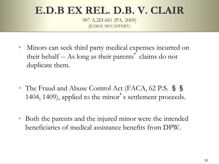 E.D.B EX REL. D.B. V. CLAIR