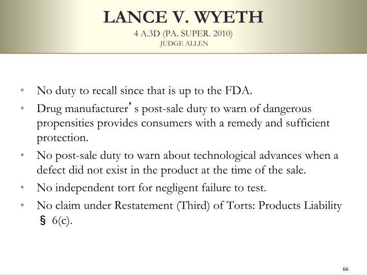 LANCE V. WYETH