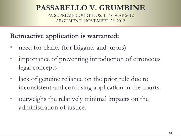PASSARELLO V. GRUMBINE