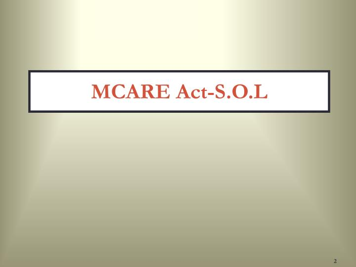 MCARE Act-S.O.L