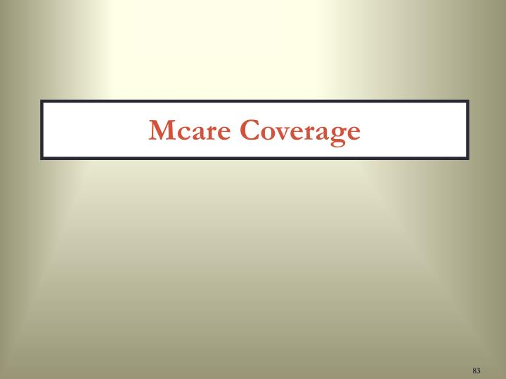 Mcare Coverage