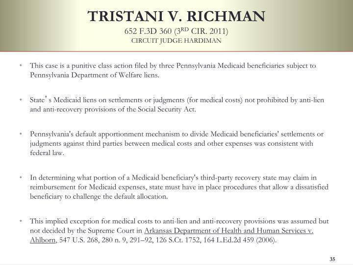 TRISTANI V. RICHMAN