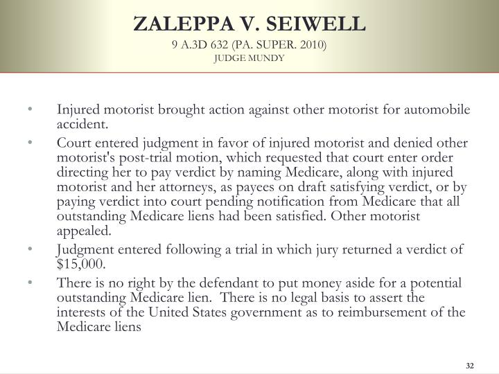 ZALEPPA V. SEIWELL