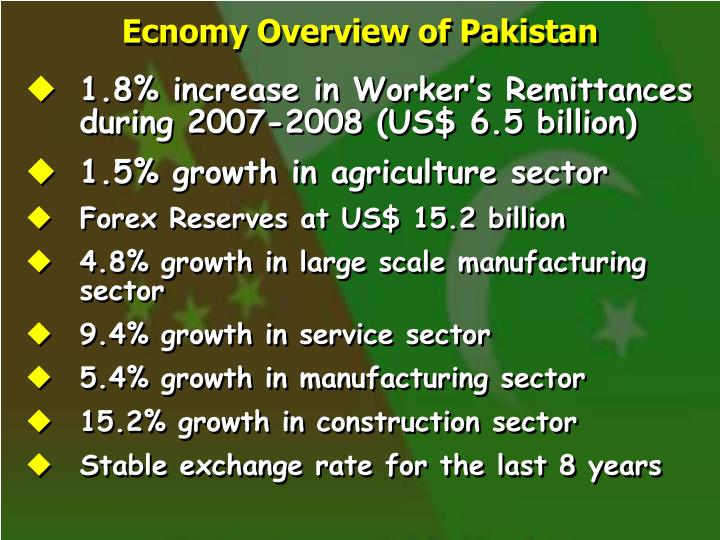 Ecnomy Overview of Pakistan