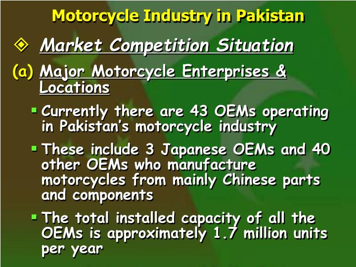 Motorcycle Industry in Pakistan