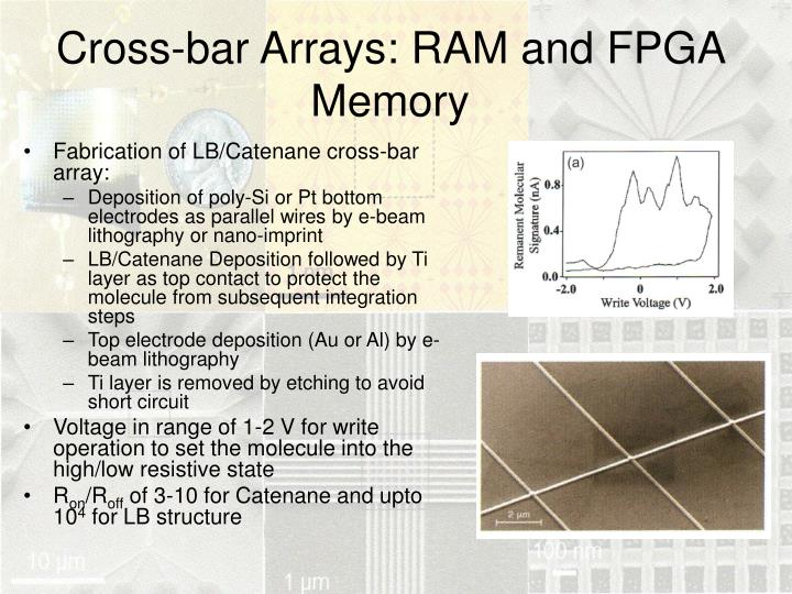 Cross-bar Arrays: RAM and FPGA Memory