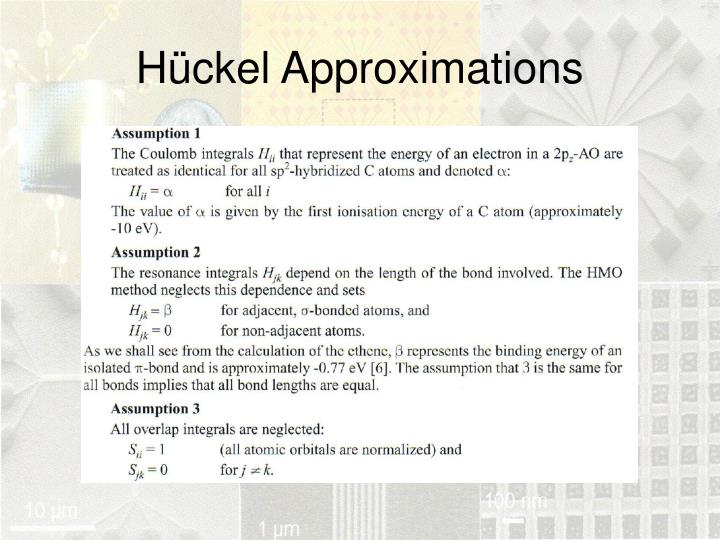 Hückel Approximations
