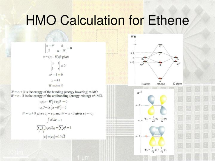 HMO Calculation for Ethene