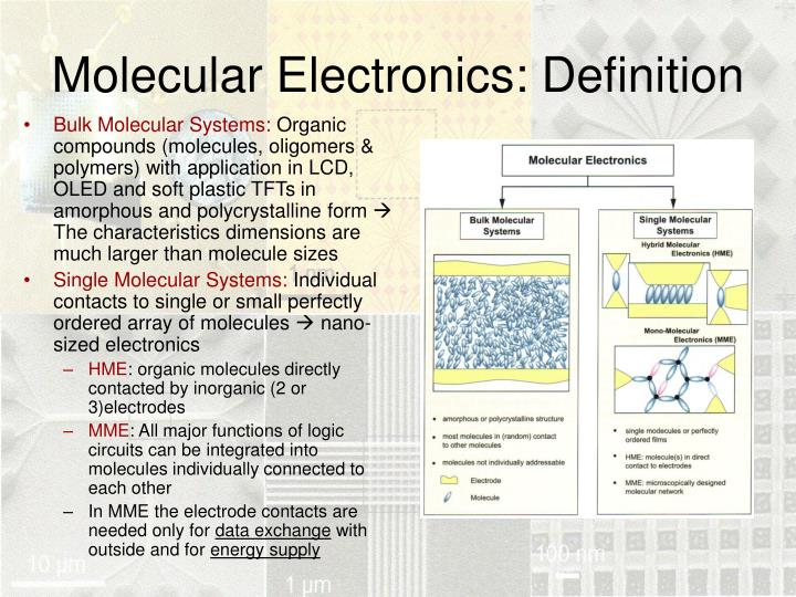 Molecular Electronics: Definition