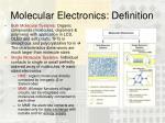 molecular electronics definition