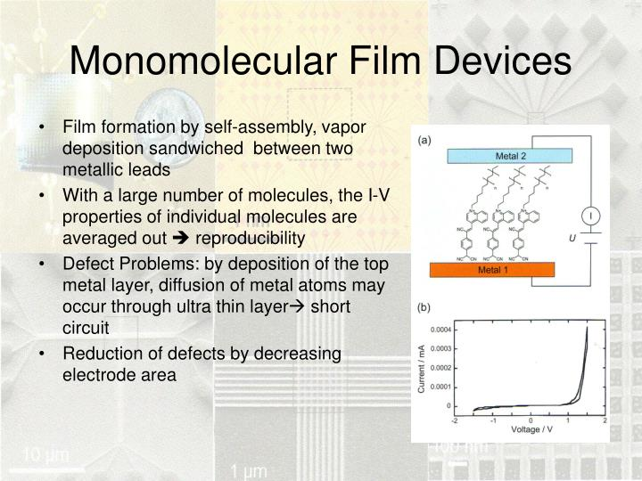 Monomolecular Film Devices