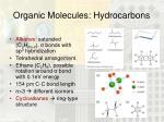 organic molecules hydrocarbons