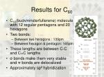 results for c 60