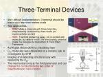 three terminal devices