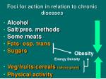 foci for action in relation to chronic diseases