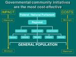 governmental community initiatives are the most cost effective