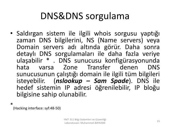 DNS&DNS sorgulama