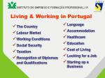 living working in portugal