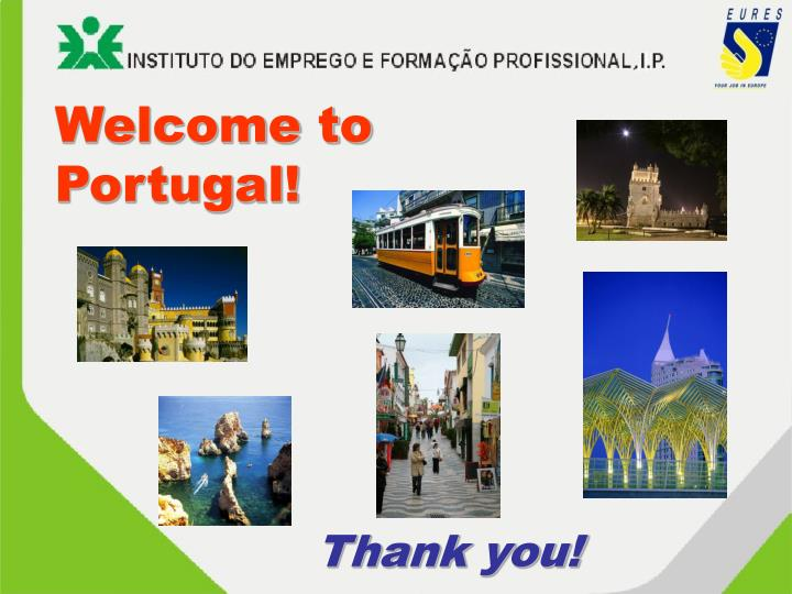 Welcome to Portugal!