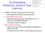 co embedding resolution iterative type learning