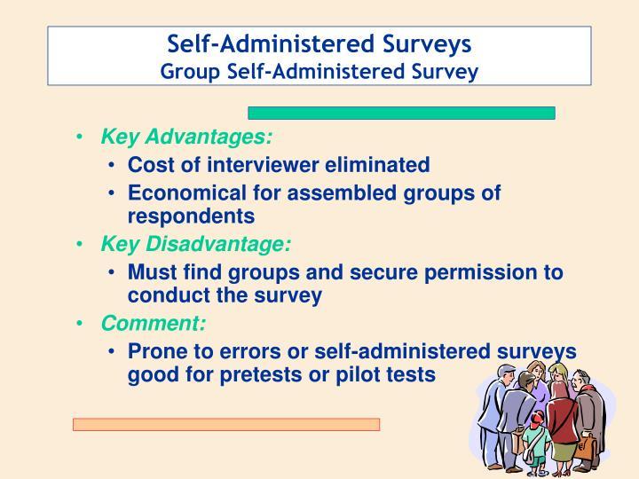 Self-Administered Surveys