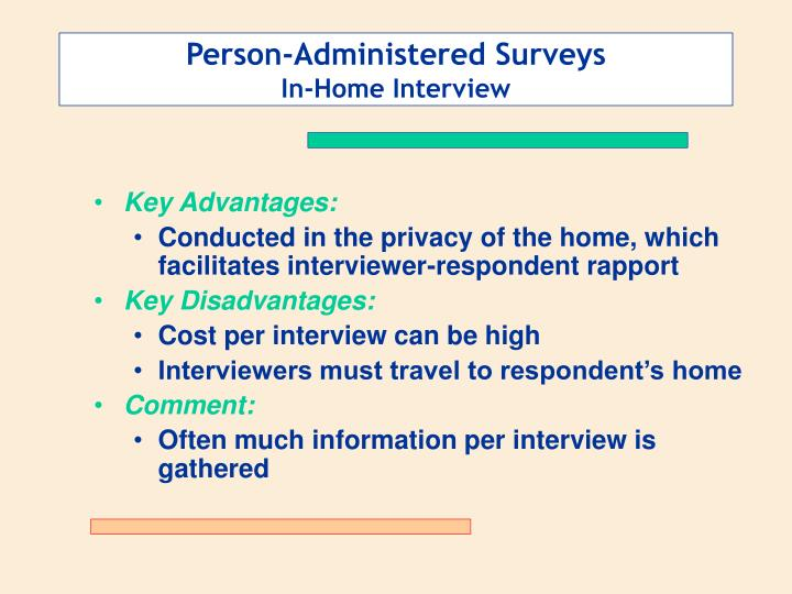 Person-Administered Surveys