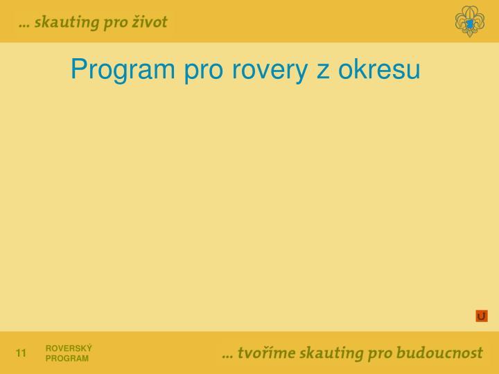 Program pro rovery z okresu