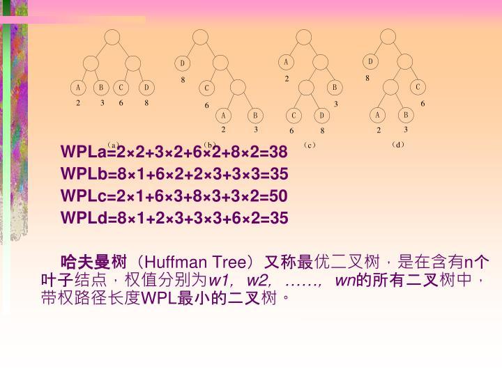 WPLa=22+32+62+82=38