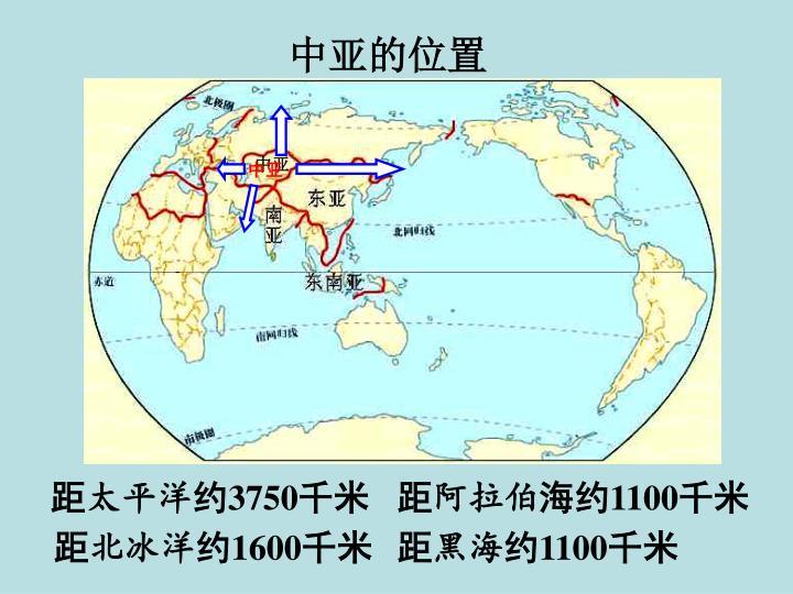 中亚的位置