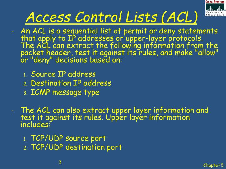 Access control lists acl1