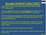 access control lists acl2