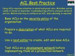 acl best practice