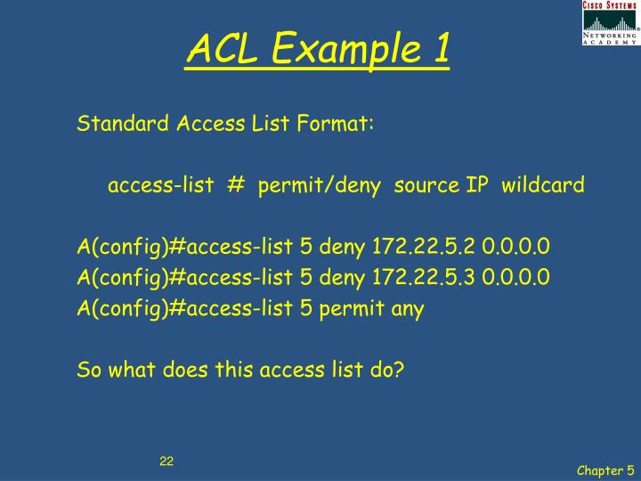ACL Example 1