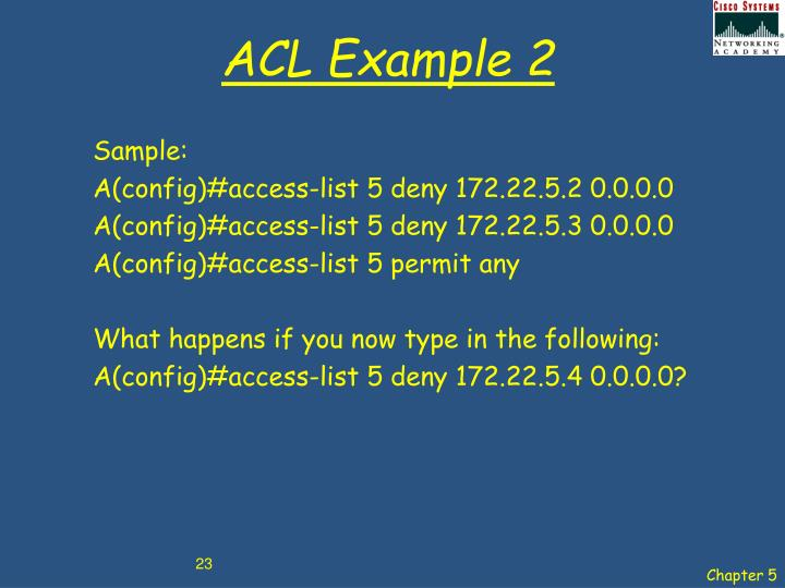 ACL Example 2