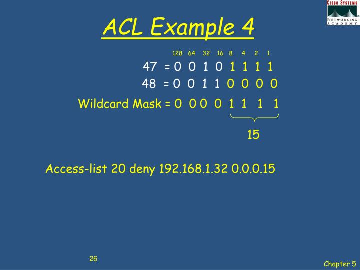 ACL Example 4