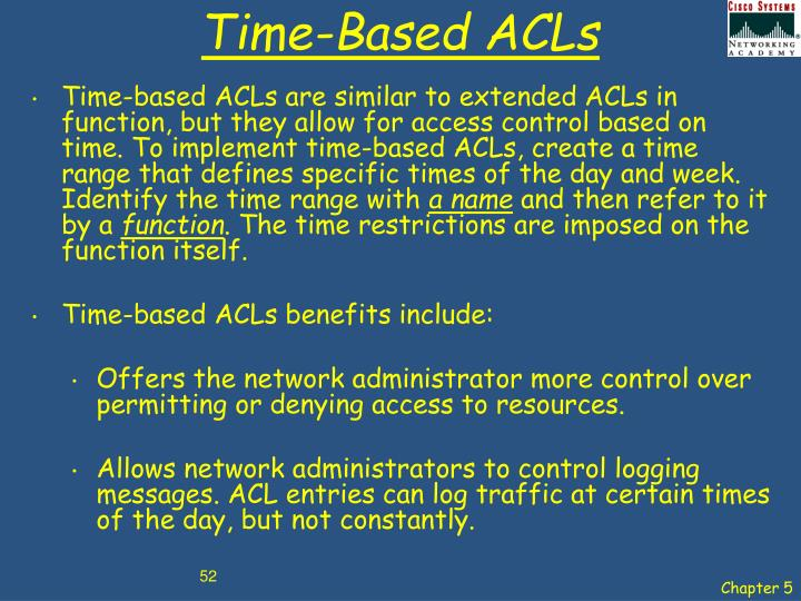 Time-Based ACLs