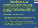 time based acls