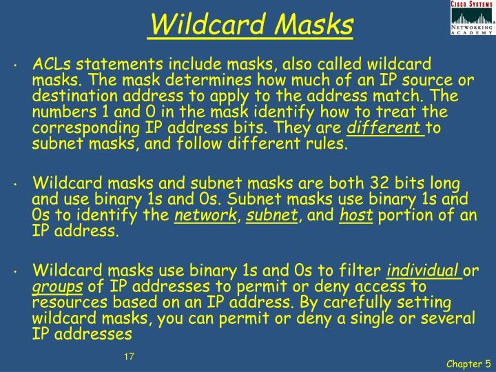 Wildcard Masks