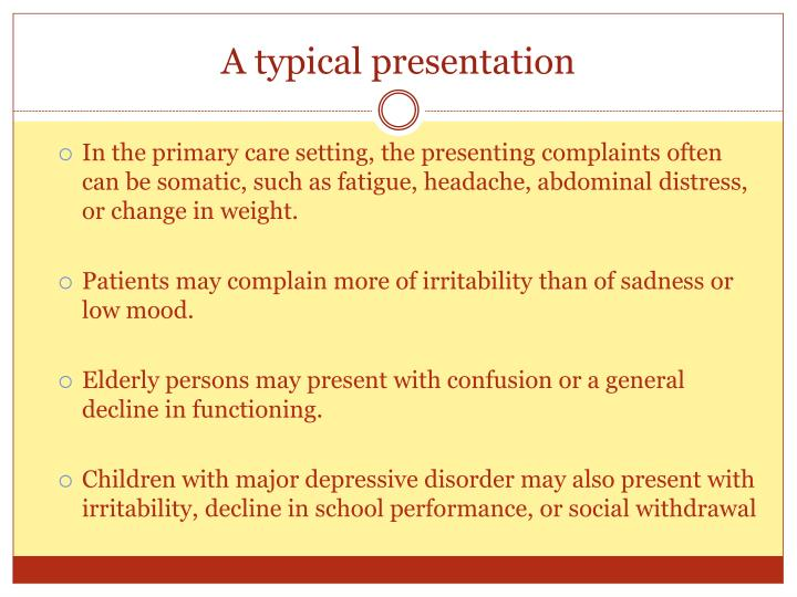 A typical presentation