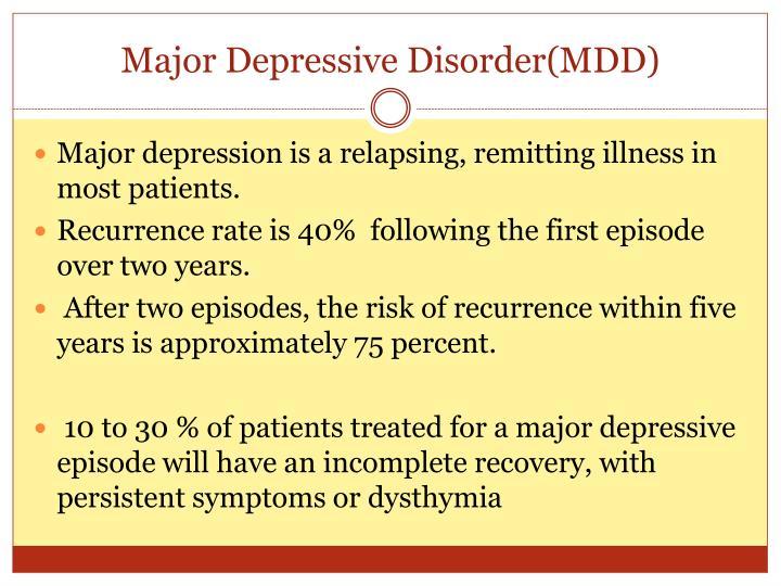 Major Depressive Disorder(MDD)